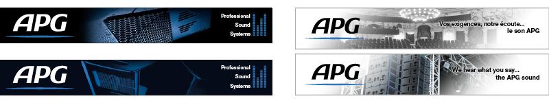 APG bannière électronique web