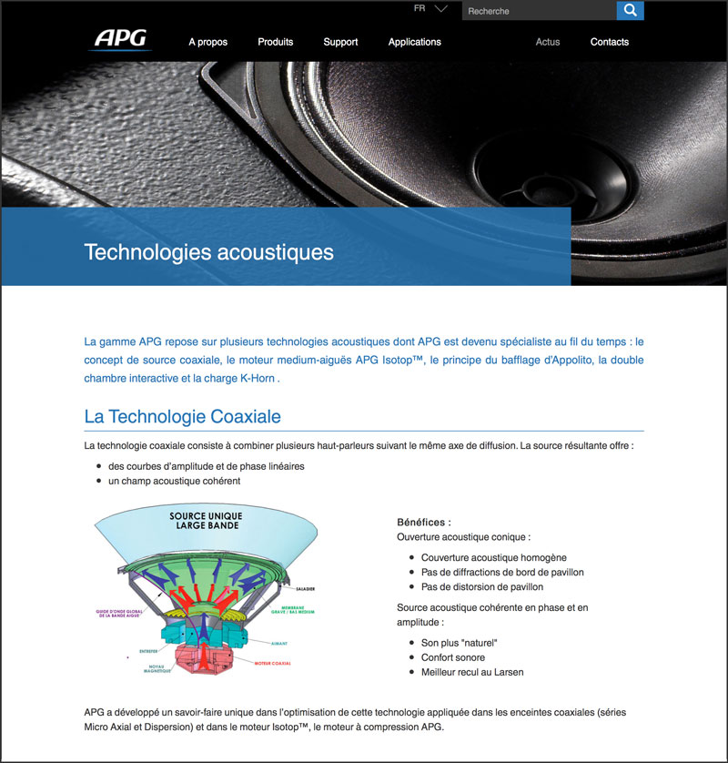 APG administration site web