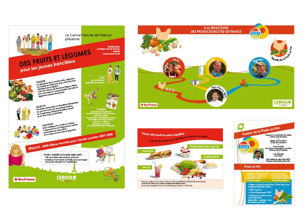 Cervia affiches flyers fiches recettes
