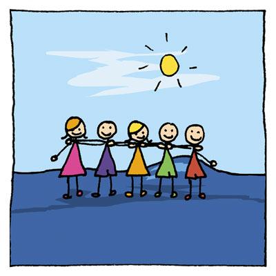 Thèse sur le bonheur - illustration-amitié
