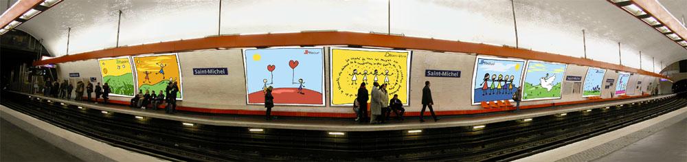Thèse sur le bonheur - métro
